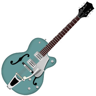 Hollow Bodied Electric Guitar