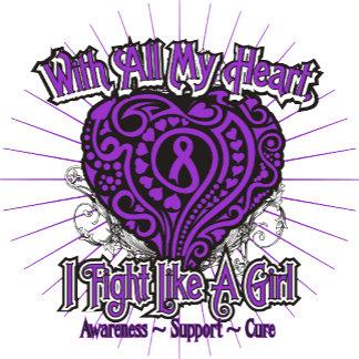 Epilepsy Heart I Fight Like A Girl