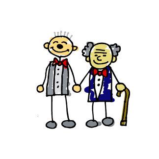 Old Interracial Gay Couple white asian