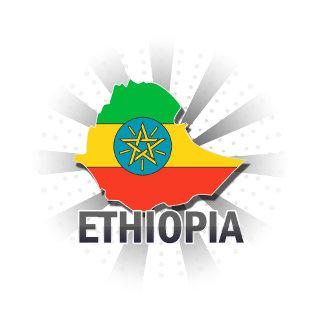 Ethiopia Flag Map 2.0