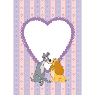 lady and the tramp valentine heart card