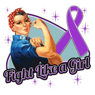 Epilepsy Fight Like A Girl Retro Rosie