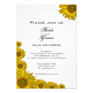 Sunflower Edge Wedding