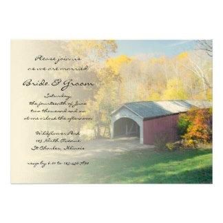 Autumn Covered Bridge Wedding