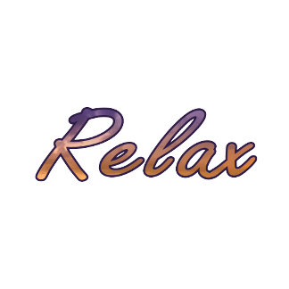 Relax cloud purple orange outlined