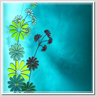 CYAN BLUE FLOWERS