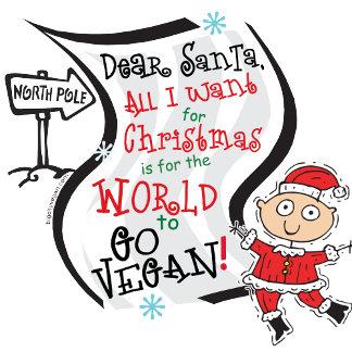 Dear Santa Vegan Wish T-shirts, Gifts, Cards