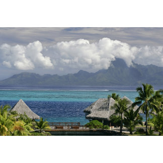 French Polynesia, Moorea. A view of the island