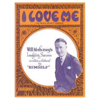 I Love Me - Vintage Song Sheet Music Art
