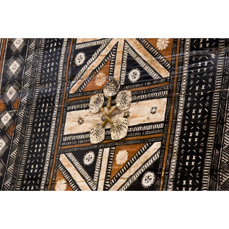 Polynesia, Kingdom of Tonga. Detail of tapa