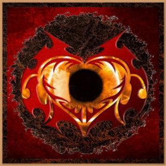 ABSTRACT FIRE HEART EYE