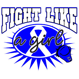 Colon Cancer Fight Like A Girl Sporty Callout