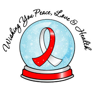 Oral Cancer Ribbon Merry Christmas Snowglobe