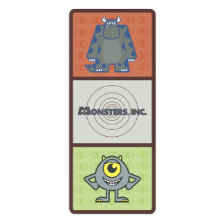 Monsters Inc. Sulley and Mike Card design