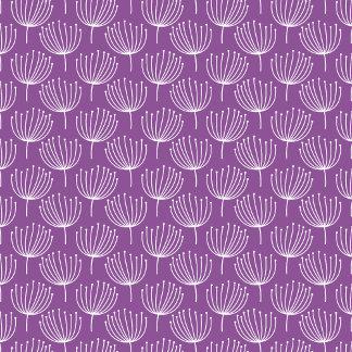 Retro Mod Dandelions on Purple