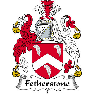 Fetherstone Family Crest / Coat of Arms