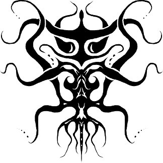 Alien Tribal Tattoo Species 273 black and white 2