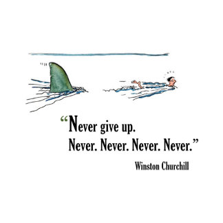 Never Give In. Never Never Never