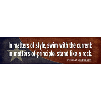 Jefferson: In matters of style, swim with the...