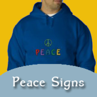 Peace Signs on T-shirts, Apparel, Caps