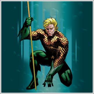 Aquaman Crouching