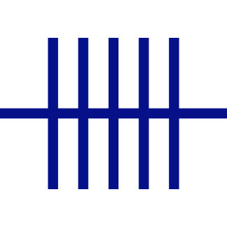 5 Bisected Blue Lines