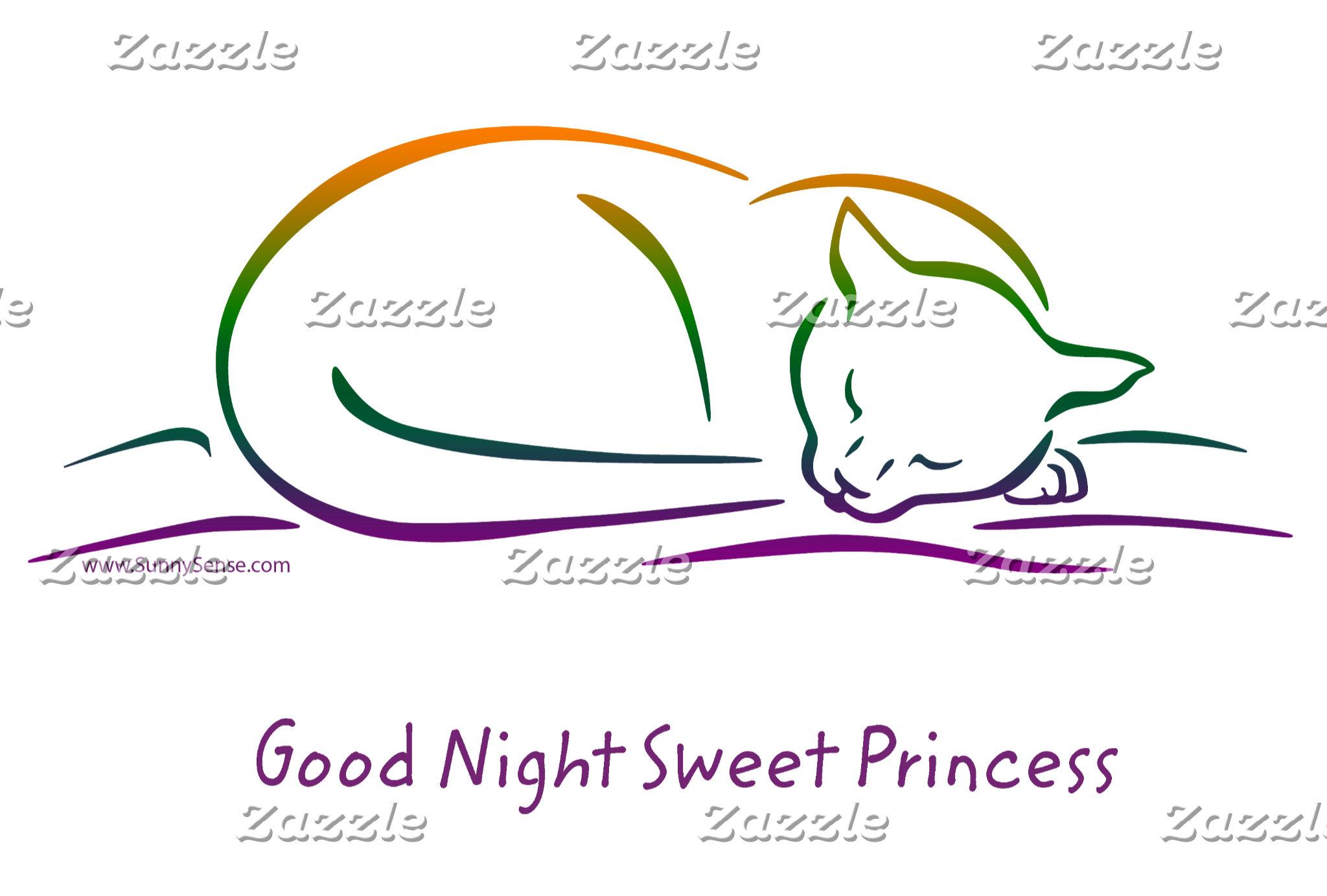 Good Night Sweet Princess (Cat)