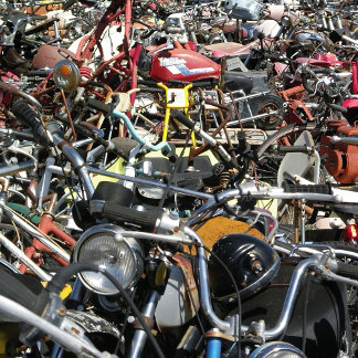Motorcycle Graveyard Photographs