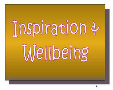 W-  INSPIRATION & WELLBEING