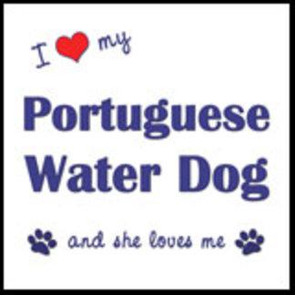 I Love My Portuguese Water Dog (Female Dog)