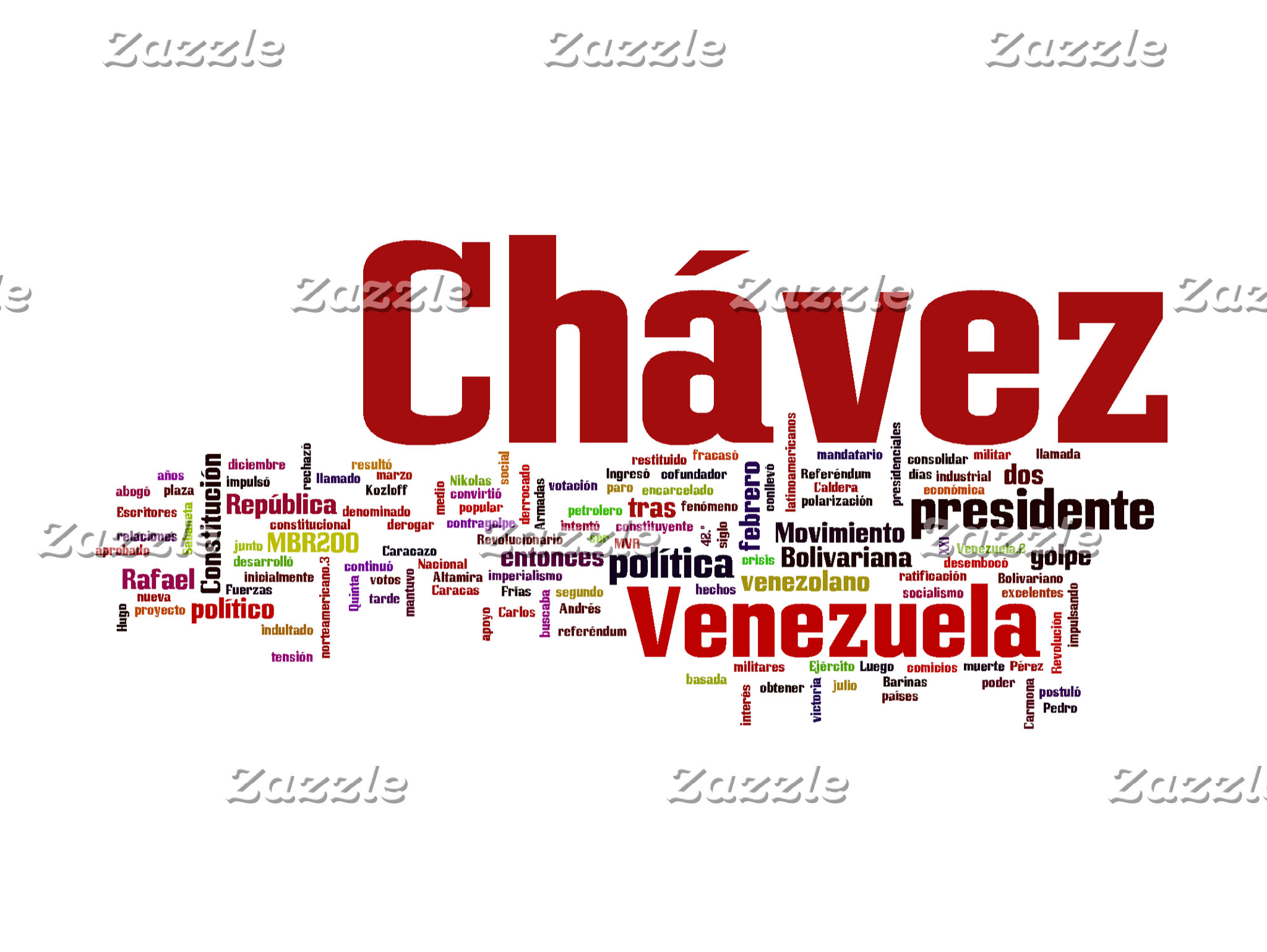 Hugo Chavez - Many Colorful Words style