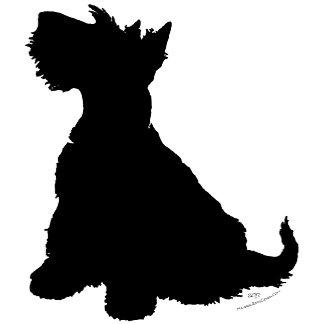 Sitting Scottish Terrier Silhouette
