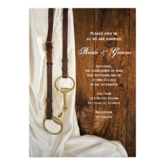 White Satin and Horse Bit Wedding