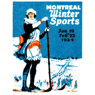 1924 Montreal Winter Sports Poster