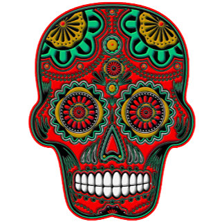 Classic Colorful Sugar Skulls