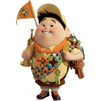 Russell smiling - the Disney Pixar UP Movie 2