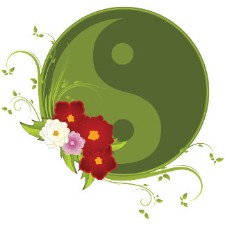 Yin Yang and Flowers