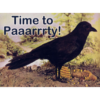 Party Crow T-Shirts, Invitations and Gifts!