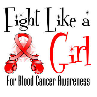 Blood Cancer Cool Retro Fight Like a Girl