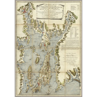 Topographical Chart of the Bay of Narraganset