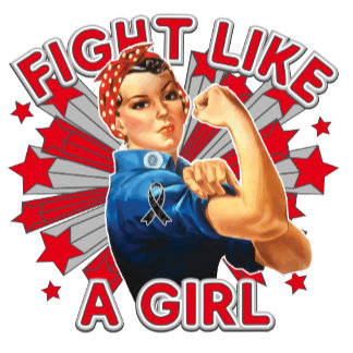 Melanoma Vintage Rosie Fight Like A Girl