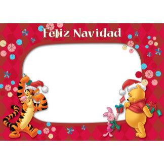 Winnie the Pooh Feliz Navidad Frame Tigger Piglet