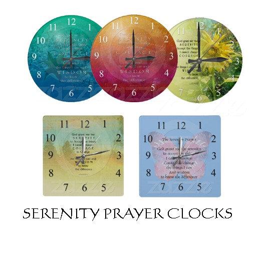 Serenity Prayer Clocks