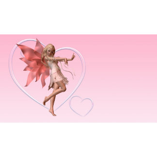 Valentine Fairy and Pink Hearts - 3