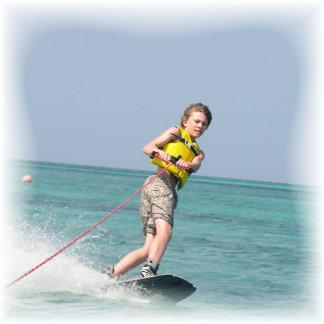 Wakeboarding Teen