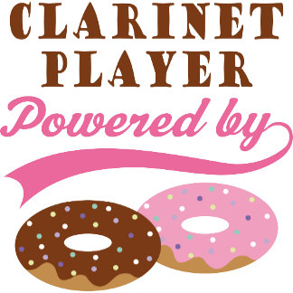 Clarinet Player Powered by Donuts