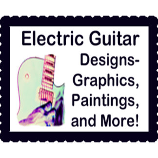 Electric Guitar player designs and paintings