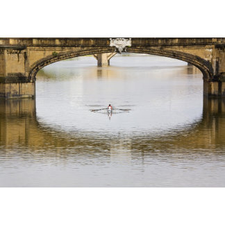 Italy, Florence, Rowing Sculls with