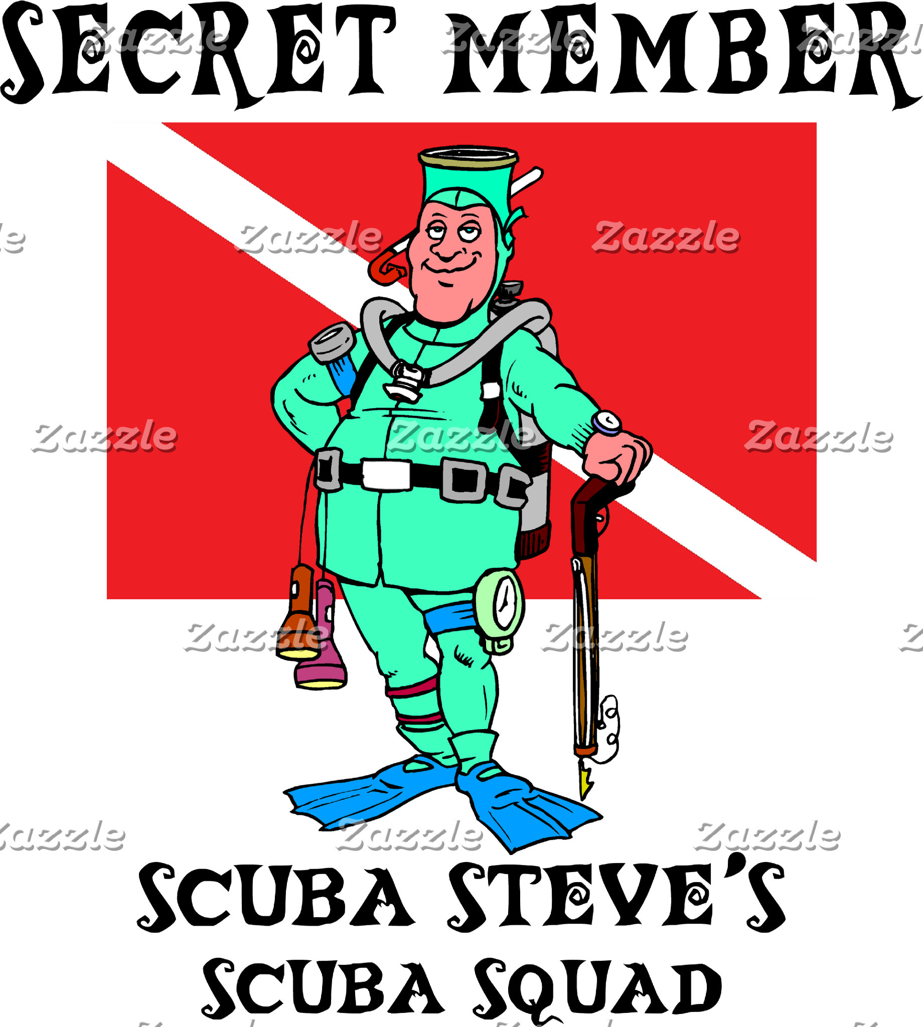 Secret Member SCUBA Steve T-Shirt Gifts