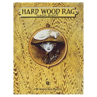 Hard Wood Rag - Vintage Song Sheet Music Art
